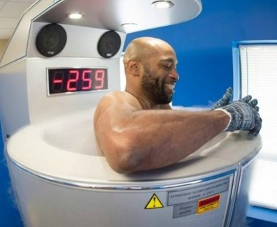 Vince Carter in cryo chamber