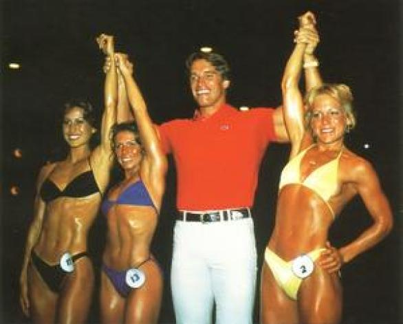 Arnold at 1980 Ms. Olympia