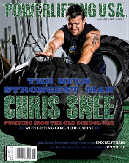 Chris Snee Powerlifting USA cover