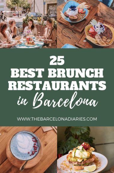 Best Brunch Restaurants in Barcelona on Pinterest