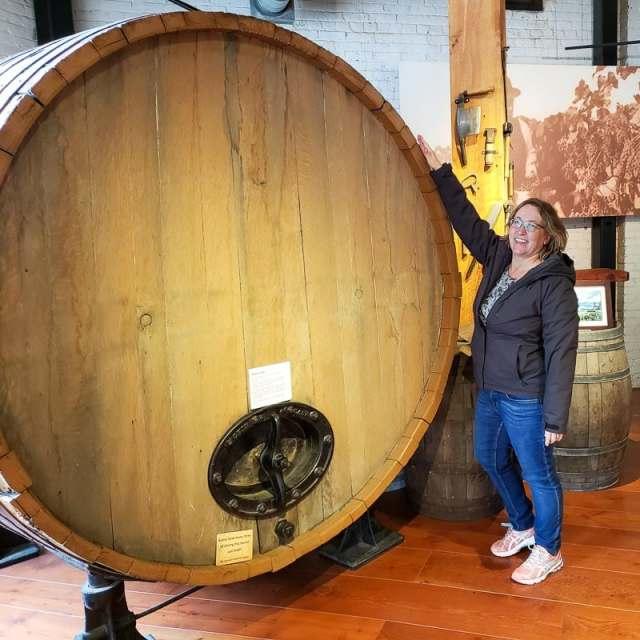 Big wine barrel at Okanagan Wine and Orchard Museum in Kelowna