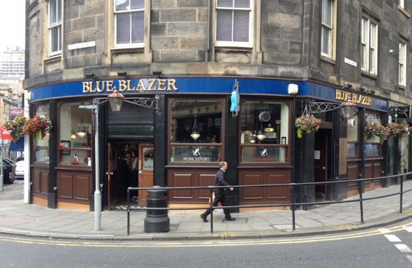 The Blue Blazer sits in the shadow of Edinburgh Castle (far left)