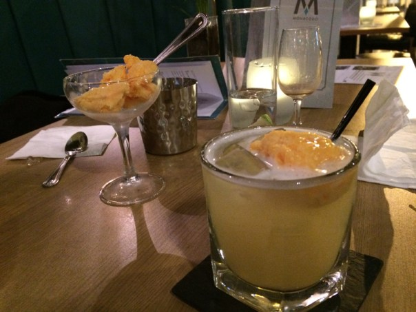 The highlight of a Fizzytree at Monboddo is the orange sorbet