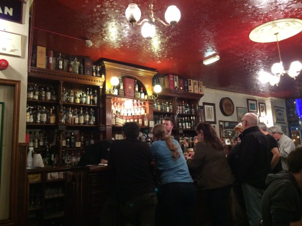While busy towards the end of the Festival, the Bow Bar can be very quiet during the day.