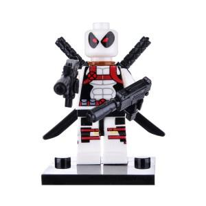 Block Minifigure Deadpool White