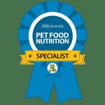 Pet Nutrition Specialist Badge