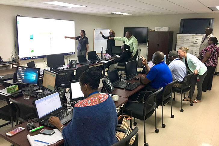 in CDEMA's Regional Coordination Centre