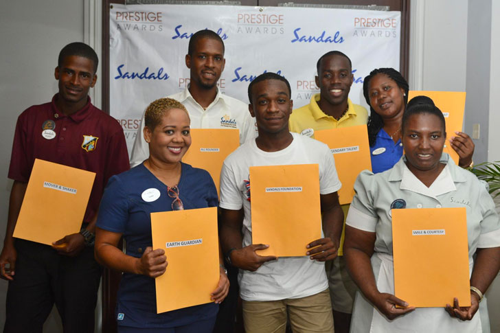 Sandals Prestige Awards Recipients