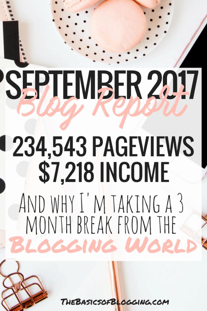 Blog Income and Traffic Report for September 2017 Swaddles n' Bottles