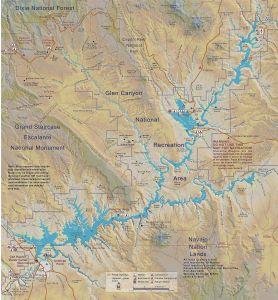 Map of Utah's Lake Powell. Image courtesy Wikipedia