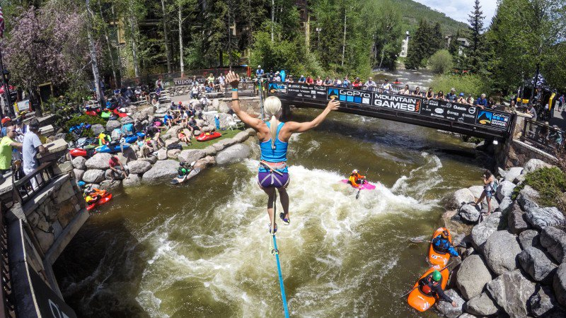 Kick back and watch pro kayaking and slack lining at the GoPro Mountain Games — or enter the games yourself. Photo: Rick Lohre