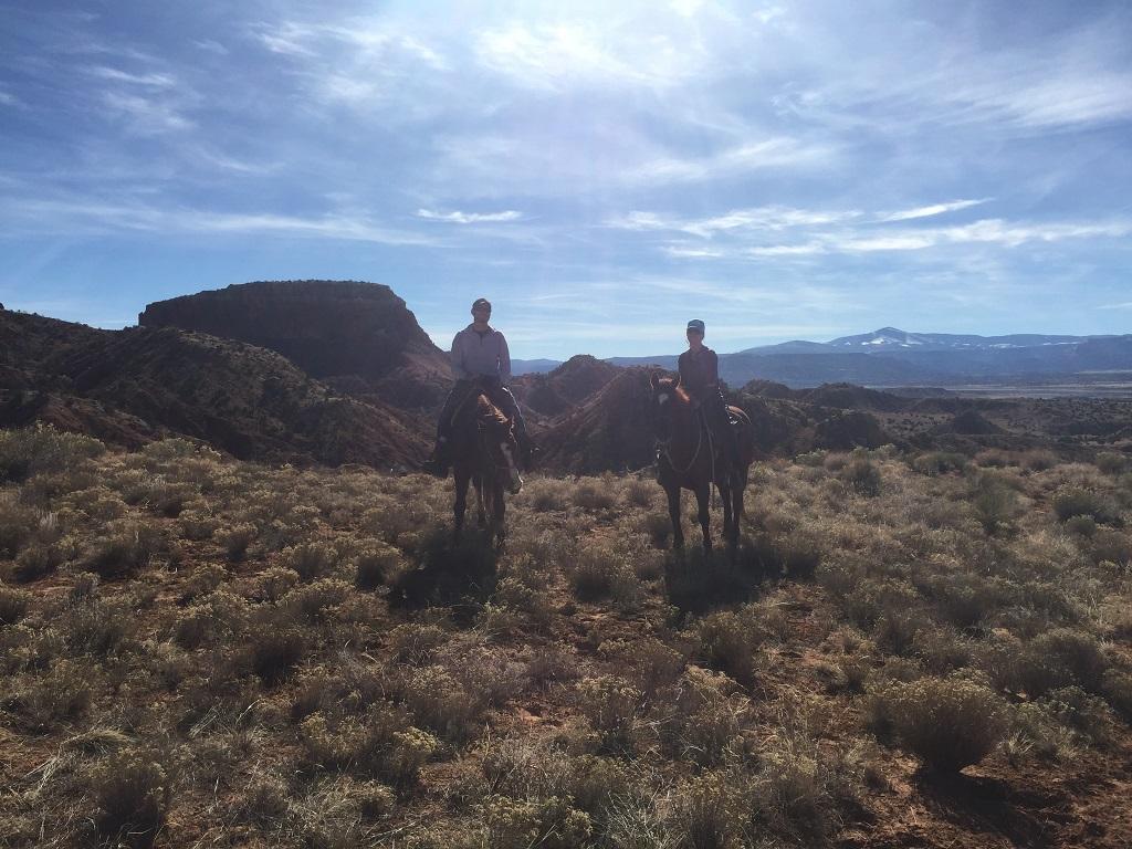 Ghost Ranch Horseback Ride. P
