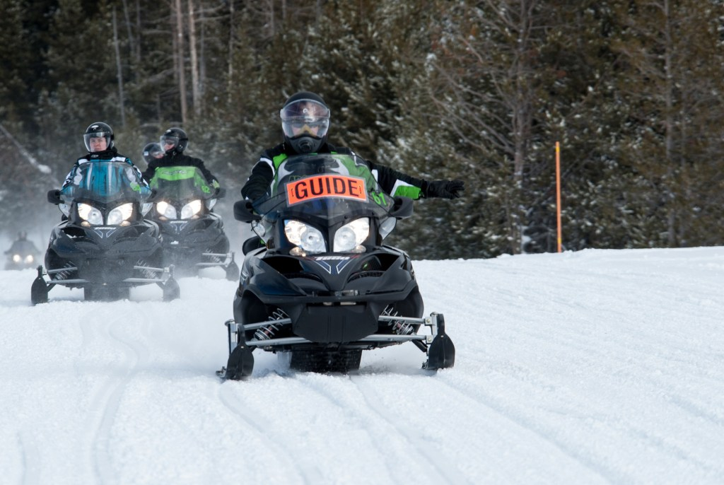 Snowmobiling, Yellowstone National Park, Montana