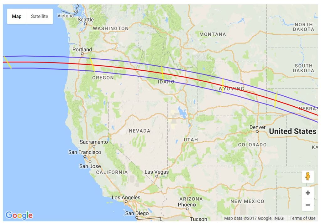 Great American Eclipse - Western US