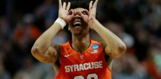 Malachi Richardson scored 21 in the second half to power the Orange past the Cavaliers. Syracuse will face UNC in the Final Four
