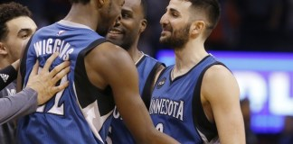 Ricky Rubio hits a late three to give the Wolves a 99-96 win over the Thunder