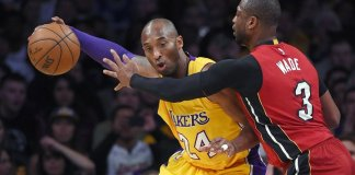 Dwyane Wade's 26 points weren't enough to lead him and the Heat past the Lakers.