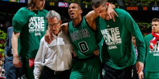 Avery Bradley doubtful to return for the remainder of the first round with a hamstring injury