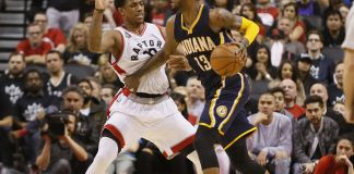 Pacers' Paul George had 33 to stun Toronto in game one