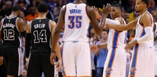 The OKC Thunder take on the San Antonio Spurs in the Western Conference Semis