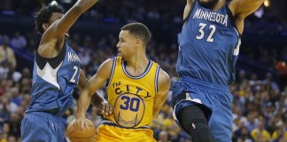 Andrew Wiggins had 32 points and six steals as the Minnesota Timberwolves handed the Warriors their ninth loss this year