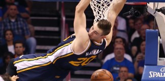 Nov. 13, 2015 - Orlando, FL, USA - The Utah Jazz's Gordon Hayward dunks against the Orlando Magic at the Amway Center in Orlando, Fla., on Friday, Nov. 13, 2015 (Stephen M. Dowell/Zuma Press/Icon Sportswire)