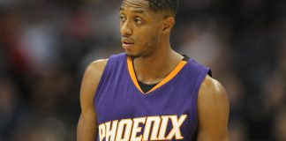 Nov 16, 2016; Denver, CO, USA; Phoenix Suns guard Brandon Knight (11) during the game against the Denver Nuggets at Pepsi Center. Mandatory Credit: Chris Humphreys-USA TODAY Sports