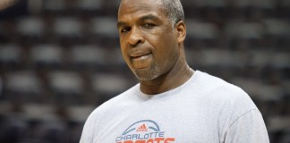 Feb 12, 2011; Atlanta, GA, USA; Charlotte assistant coach Charles Oakley during pregame warm-ups at Philips Arena. The Charlotte Bobcats won the game 88-86 over the Atlanta Hawks. Mandatory Credit: Darrell Walker-Icon Sportswire