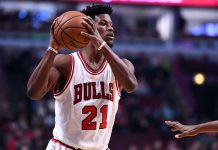 Dec 13, 2016; Chicago, IL, USA; Chicago Bulls forward Jimmy Butler (21) attempts to pass the ball against the Minnesota Timberwolves during the first half at the United Center. Mandatory Credit: Mike DiNovo-USA TODAY Sports