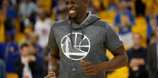 Jun 12, 2017; Oakland, CA, USA; Golden State Warriors forward Draymond Green before game five of the 2017 NBA Finals against the Cleveland Cavaliers at Oracle Arena. Mandatory Credit: Cary Edmondson-USA TODAY Sports