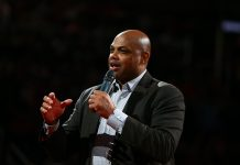 Mar 3, 2017; Phoenix, AZ, USA; Phoenix Suns former guard Charles Barkley in attendance of the game against the Oklahoma City Thunder at Talking Stick Resort Arena. The Suns defeated the Thunder 118-111. Mandatory Credit: Mark J. Rebilas-USA TODAY Sportsfor