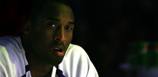 Dec 10, 2006; Los Angeles, CA, USA; Los Angeles Lakers guard Kobe Bryant sits on the bench during player introductions against the San Antonio Spurs at the STAPLES Center in Los Angeles. Mandatory Credit: Jeff Lewis-Icon Sportswire