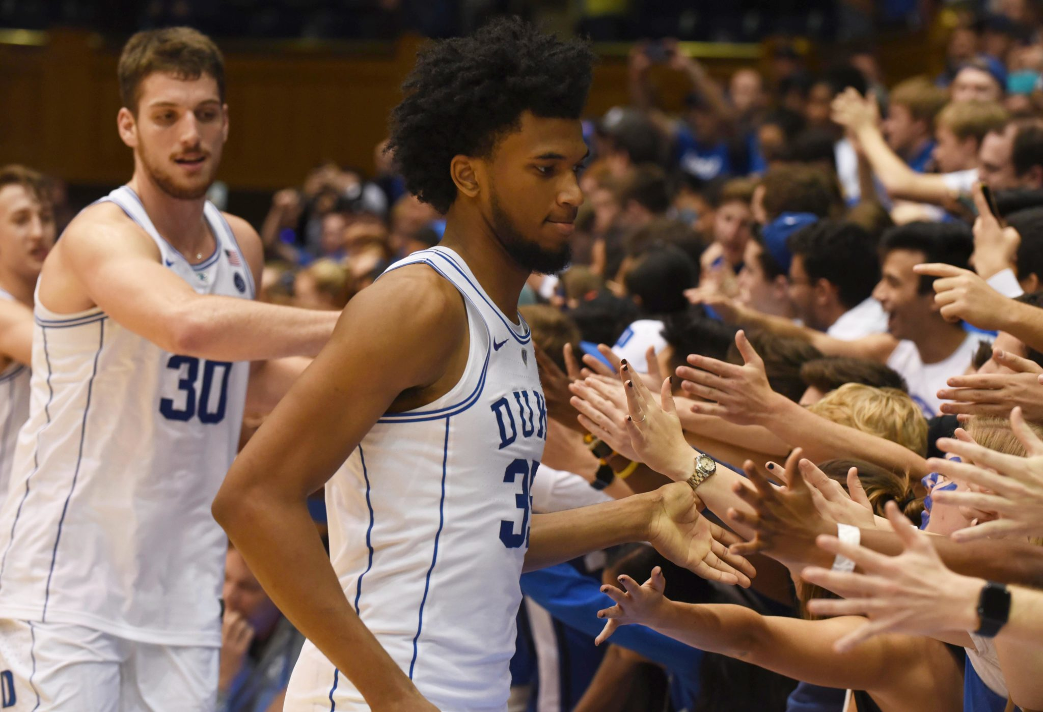 Duke's Marvin Bagley III exits game with injury