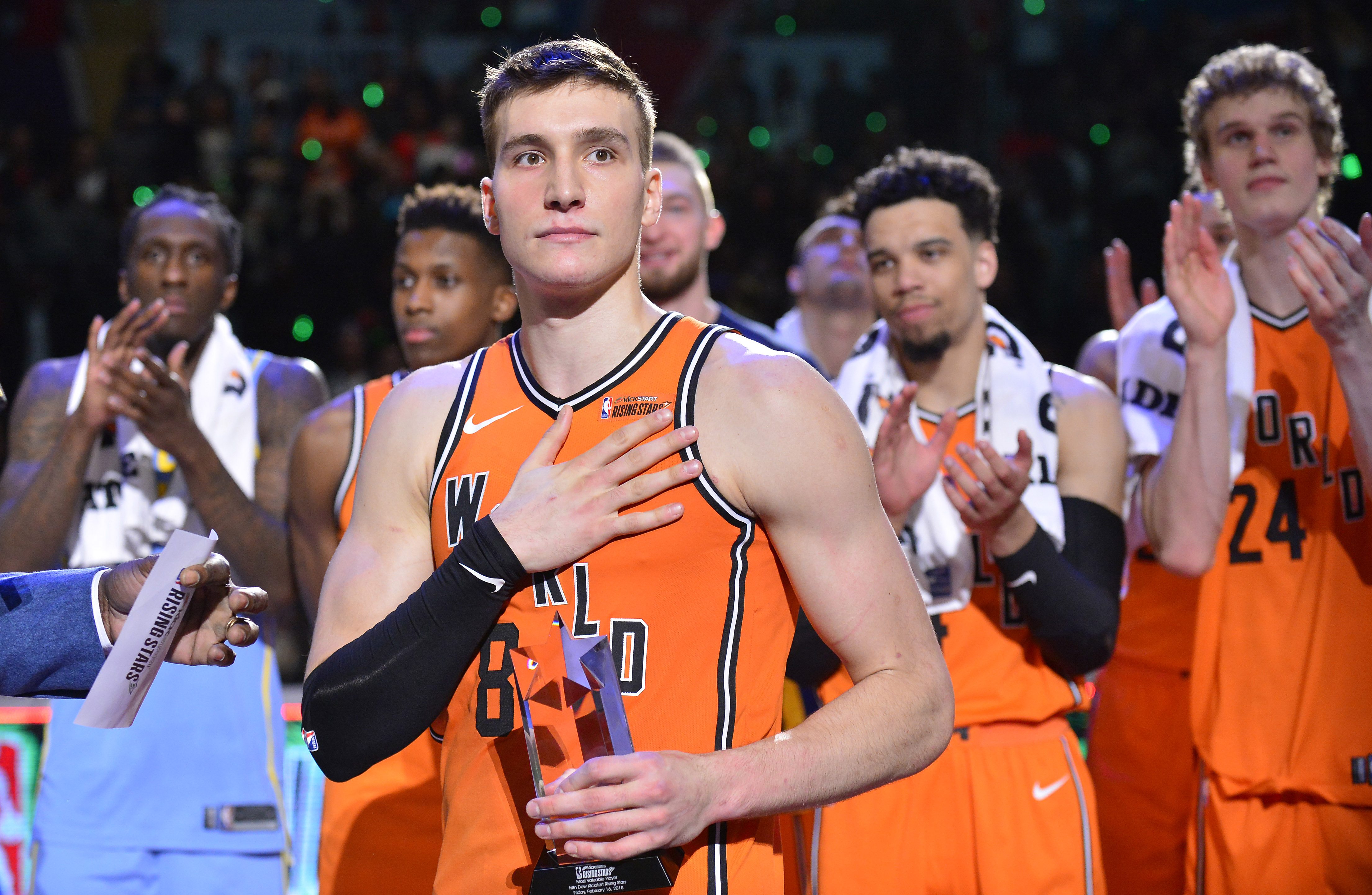 World too strong for US in NBA Rising Stars duel