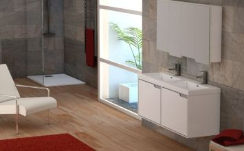 Decoración de baño moderno sólo cambiando 3 elementos