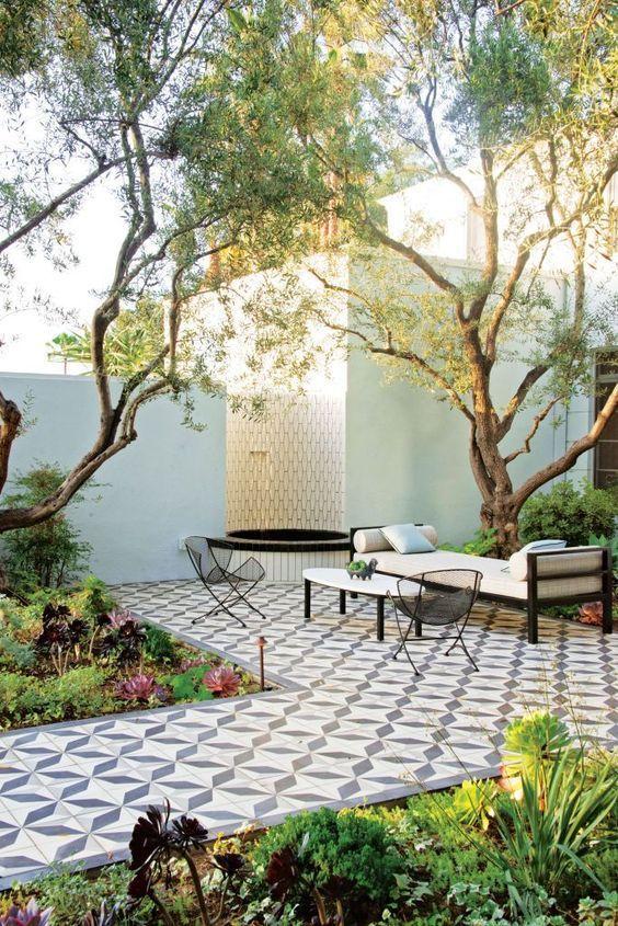 baldosas hidráulicas terraza