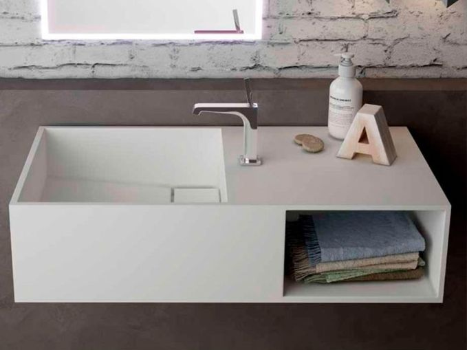 Lavabo fabricado de Solid Surface