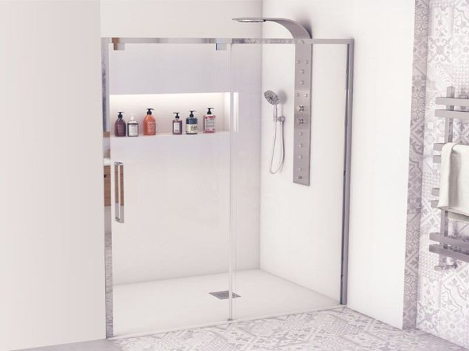 Mampara para cuarto de baño pequeno