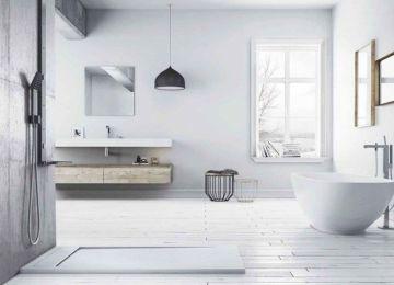 Tendencias de baños modernos con plato de ducha
