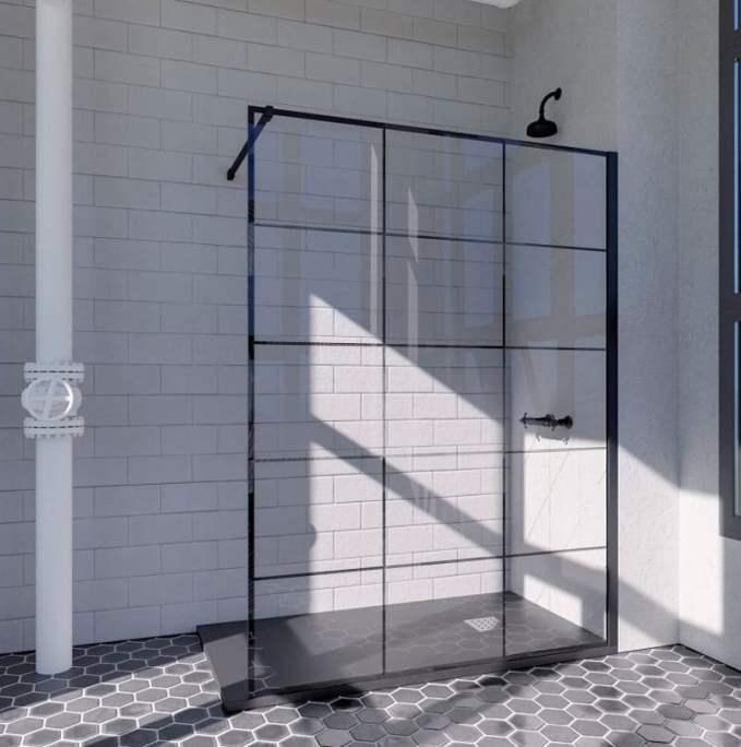 Panel de ducha fijo.