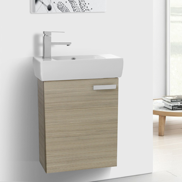 18 inch vanity cabinet with fitted sink