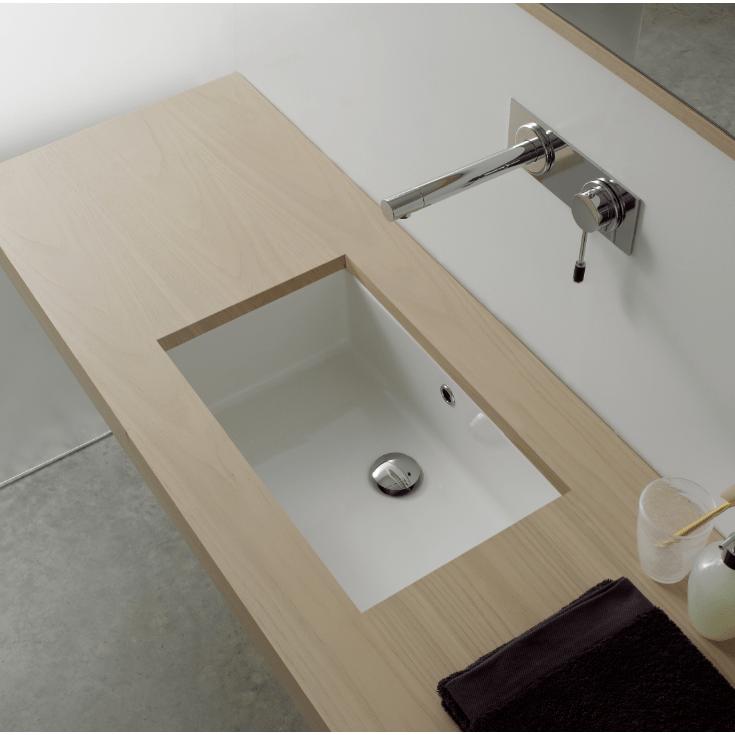 22 inch rectangular ceramic undermount sink