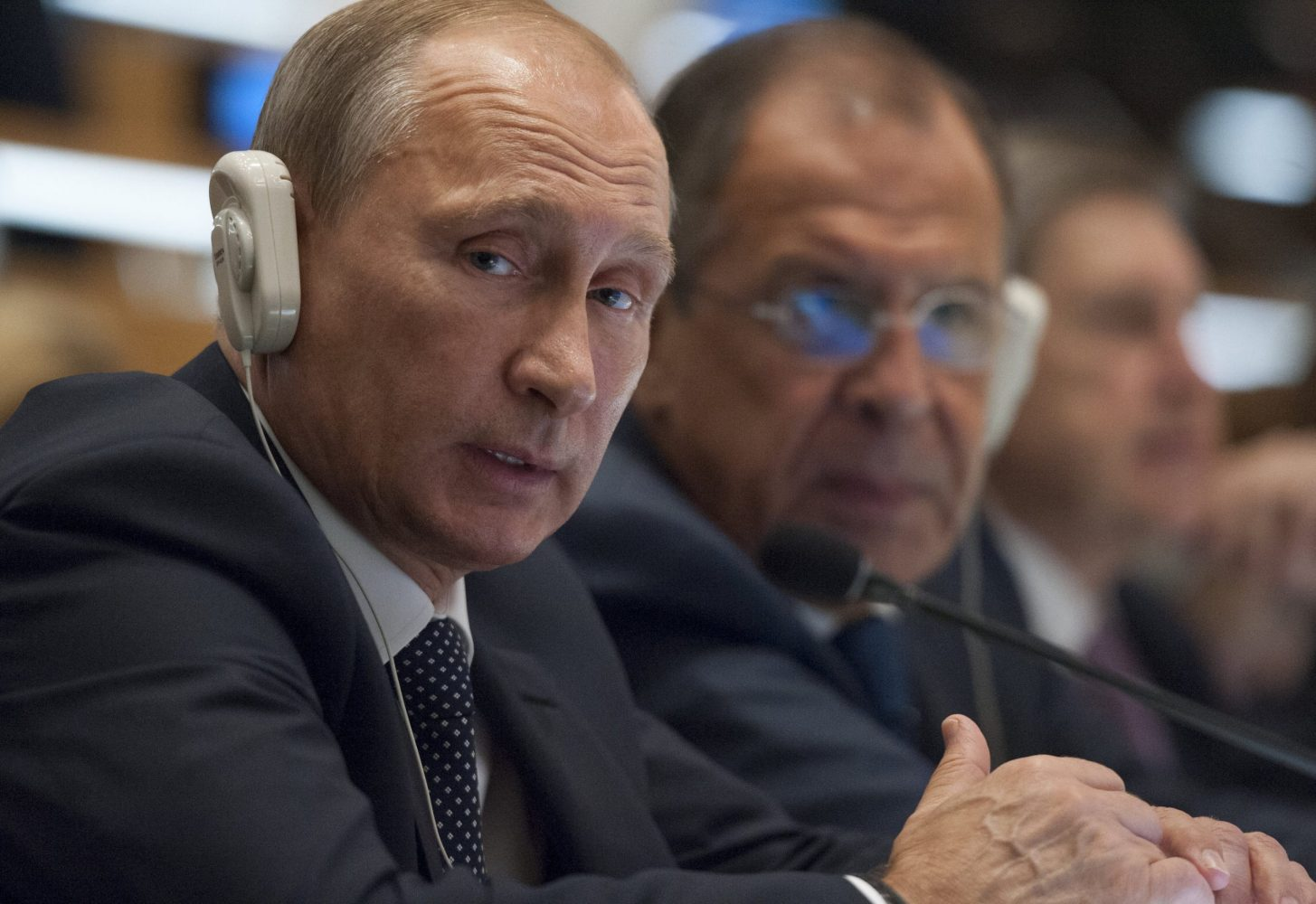 Not listening to Pussy Riot. Vladimir Putin, November 2015.