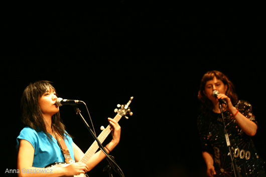 Thao & Mirah performing at Bay Area Girls Rock Camp Art Auction 2011