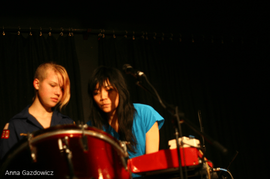Girls rock camper & Thao performing at Bay Area Girls Rock Camp Art Auction 2011