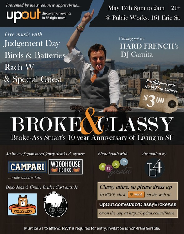 Broke and Classy flyer