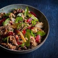 Winterse Quinoa salade met geroosterde venkel