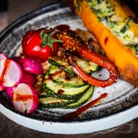 Vegan BBQ platter - Food of the world