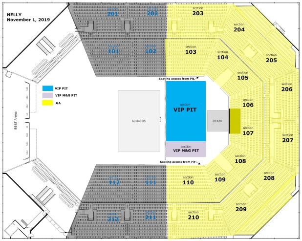 Nelly Seating Chart