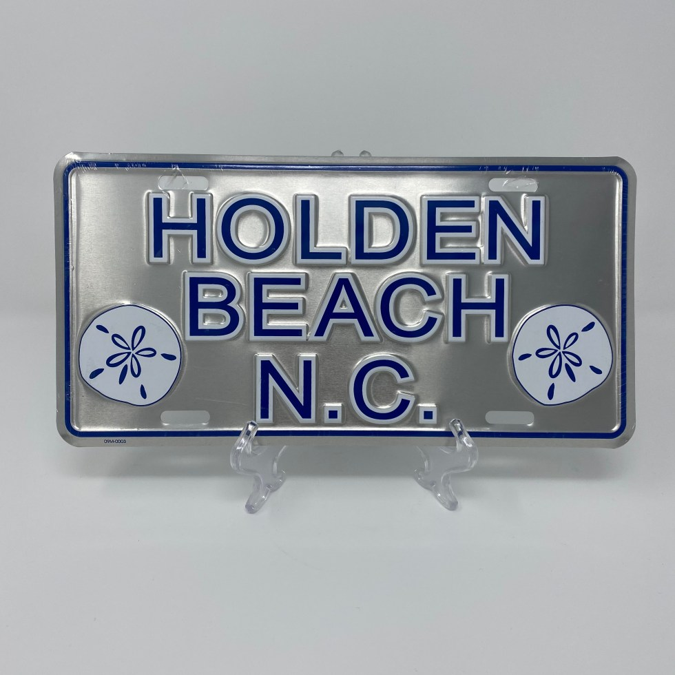 Holden Beach License Plate - Classic Sand Dollar